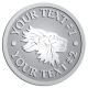 Ace Recognition Pewter Coin, Lapel, Plaque - with your text and logo - lions, lion heads, emblems, symbols, themes, animals, zoo, jungle