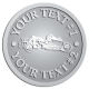Ace Recognition Pewter Coin, Lapel, Plaque - with your text and logo - road grader, mining equipment, grader, heavy equipment, earthmovers, earth movers
