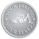 Ace Recognition Pewter Coin, Lapel, Plaque - with your text and logo - front loaders, excavators, back hoes, backhoes, loaders, trenchers, excavators, excavating, equipment, diggers