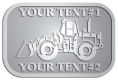 Ace Recognition Pewter Crest, Lapel, Plaque - with your text and logo - bobcats, construction, industrial, machine, machinery
