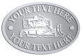 Ace Recognition Pewter Crest, Lapel, Plaque - with your text and logo - bulldozer, constructions, dozer, earth, equipment, heavy, machine, mover, soil, tracks
