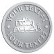 Ace Recognition Pewter Coin, Lapel, Plaque - with your text and logo - bulldozer, constructions, dozer, earth, equipment, heavy, machine, mover, soil, tracks