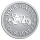 Ace Recognition Pewter Coin, Lapel, Plaque - with your text and logo - asphalt paving machine, paver, roller, machinery, equipment, heavy, steam rollers, steamrollers, drum compactors