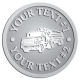 Ace Recognition Pewter Coin, Lapel, Plaque - with your text and logo - logging equipment, logging truck, trucking, cargo, industry, logging, truck, lumber