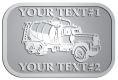 Ace Recognition Pewter Crest, Lapel, Plaque - with your text and logo - cement truck, concrete, construction, heavy equipment, road construction, home renovation