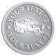 Ace Recognition Pewter Coin, Lapel, Plaque - with your text and logo - cement truck, concrete, construction, heavy equipment, road construction, home renovation