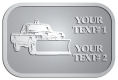 Ace Recognition Pewter Crest, Lapel, Plaque - with your text and logo - snow removal, truck, plow, pick up, pick-up, snow plow