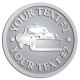 Ace Recognition Pewter Coin, Lapel, Plaque - with your text and logo - snow removal, truck, plow, pick up, pick-up, snow plow