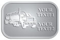 Ace Recognition Pewter Crest, Lapel, Plaque - with your text and logo - tanker trucks, tank trucks, truck tankers, truck tanks, carriers, haulers, transportation