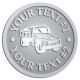 Ace Recognition Pewter Coin, Lapel, Plaque - with your text and logo - dump truck, road construction, machinery, heavy equipment, transportation