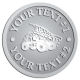 Ace Recognition Pewter Coin, Lapel, Plaque - with your text and logo - dump trucks, standard dump trucks, trucks, construction vehicles, dumper, tip trucks, tipper lorry, tipper trucks, tippers, tipper lorries, transportation
