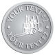 Ace Recognition Pewter Coin, Lapel, Plaque - with your text and logo - forklifts, fork lifts, reach trucks, lift trucks, hoist trucks, industrial vehicles