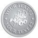 Ace Recognition Pewter Coin, Lapel, Plaque - with your text and logo - bucket front loaders, wheel loaders, machinery , loaders, excavators, bulldozers