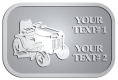 Ace Recognition Pewter Crest, Lapel, Plaque - with your text and logo - lawn tractors, riding mowers, garden tractors, lawn mowers