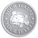 Ace Recognition Pewter Coin, Lapel, Plaque - with your text and logo - lawn tractors, riding mowers, garden tractors, lawn mowers