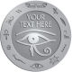 Ace Recognition Pewter Buckle, Coin, Lapel, KeyTag, Medal, Pendant, Plaque - with your text and logo - egyptian, hieroglyphics, creatures, mythology, eye of horus