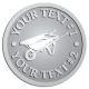 Ace Recognition Pewter Coin, Lapel, Plaque - with your text and logo - wheelbarrows, wheel barrows, garden carts