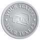 Ace Recognition Pewter Coin, Lapel, Plaque - with your text and logo - drywall, drywall tools, plaster, plasterer, scrapers, utility knives, utility knife, ruler, square, drywallers, trades