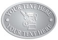 Ace Recognition Pewter Crest, Lapel, Plaque - with your text and logo - alarm systems, burglar alarms, security, security systems, keys, locks, home security, alarm monitoring