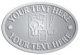 Ace Recognition Pewter Crest, Lapel, Plaque - with your text and logo - electrical receptacle outlets, electricity, plugs, light bulbs, energy, electrical plugs, electrical
