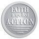 Ace Recognition Pewter Buckle, Coin, KeyTag, Lapel, Medal, Pendant, Plaque - with your text and logo - motivational, inspirational, faith is action