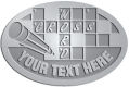Ace Recognition Pewter Crest, Lapel, Plaque - with your text and logo - crossword puzzles, recreation, challenge, brainstorming, word puzzles, ability, activity, brainteasers, clues, newspapers, vocabulary, quiz, spelling, competition, contemplation, mental