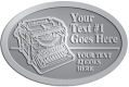 Ace Recognition Pewter Crest, Lapel, Plaque - with your text and logo - typewriters, retro, antique, business, correspondence, editorial,  journalism, underwood, olympia, smith corona, business machines