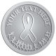 Ace Recognition Pewter Coin, Lapel, Plaque - with your text and logo - attitude, awareness, breast, cancer, celebrate, celebration, challenge, charity, courageous, health, hope, marathon, medical, miracle, pink, race, recover, recovery, ribbon, run, support, survival, survive, survivor, symbol, symbolic, therapy