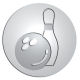 Ace Recognition Pewter Buckle, Coin, KeyTag, Lapel, Medal, Pendant, Plaque - with your text and logo - ball, bowling, bowls, competition, concept, coordination, gamble, game, hit, knock, knock-down, leisure, ninepins, persistence, recreation, skittles, sports, success, target, tenpins