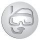 Ace Recognition Pewter Buckle, Coin, KeyTag, Lapel, Medal, Pendant, Plaque - with your text and logo - diving, equipment, eyewear, goggle, hobby, mask,  protection, rubber, scuba, see, snorkel, snorkelling, sport, swim, transparent