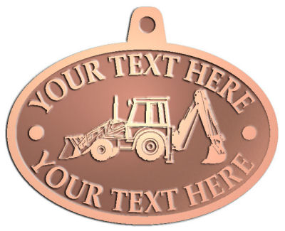 Custom Pendant - customized and personalized your way - front loaders, excavators, back hoes, backhoes, loaders, trenchers, excavators, excavating, equipment, diggers