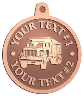 Custom Pendant - customized and personalized your way - dump trucks, standard dump trucks, trucks, construction vehicles, dumper, tip trucks, tipper lorry, tipper trucks, tippers, tipper lorries, transportation
