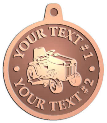 Custom Pendant - customized and personalized your way - lawn tractors, riding mowers, garden tractors, lawn mowers