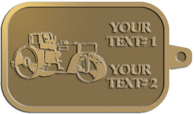 Custom Key Tag - customized and personalized your way - asphalt paving machine, paver, roller, machinery, equipment, heavy, steam rollers, steamrollers, drum compactors
