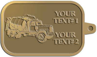Custom Key Tag - customized and personalized your way - cement truck, concrete, construction, heavy equipment, road construction, home renovation