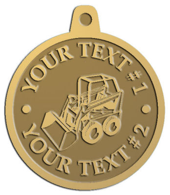 Custom Pendant - customized and personalized your way - bucket front loaders, wheel loaders, machinery , loaders, excavators, bulldozers
