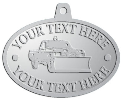 Custom Medal - customized and personalized your way - snow removal, truck, plow, pick up, pick-up, snow plow