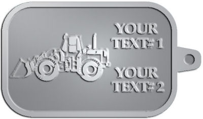 Custom Key Tag - customized and personalized your way - bobcats, construction, industrial, machine, machinery