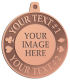 Ace Recognition Copper KeyTag, Medal, Pendant - with your text and logo - Poker - spades - hearts - clubs - diamonds - your own text or graphic, cards, casino, cassino, city, entertainment, gambler, gambling, game, holdem, las, logo, luck, lucky, poker, roulette, texas, vegas