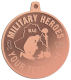 Ace Recognition Copper KeyTag, Medal, Pendant - with your text and logo - Military - Iraq - Fallen Solider Memorial - US Flag and ribbon - Military Heroes
