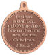 Ace Recognition Copper KeyTag, Medal, Pendant - with your text and logo - Christian Designs - For [there is] one God, and one mediator between God and men, the man Christ Jesus.  1 Timothy 2:5  religious, metal