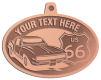 Ace Recognition Copper KeyTag, Medal, Pendant - with your text and logo - Car designs - US route 66 - vintage cars - sports car - your text, route 66, route sixty six, route sixty-six, historic highway, historic road, mother road, transportation, metal