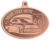 Ace Recognition Copper KeyTag, Medal, Pendant - with your text and logo - Car designs - US route 66 - vintage cars - classic cars - coupe - your text, route 66, route sixty six, route sixty-six, historic highway, historic road, mother road, transportation