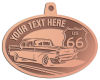 Ace Recognition Copper KeyTag, Medal, Pendant - with your text and logo - Car designs - US route 66 - vintage cars - classic cars - coupe - roadster - your text, route 66, route sixty six, route sixty-six, historic highway, historic road, mother road