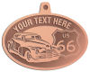 Ace Recognition Copper KeyTag, Medal, Pendant - with your text and logo - Car designs - US route 66 - vintage cars - classic cars - sports car - hot rod - your text, route 66, route sixty six, route sixty-six, historic highway, historic road, mother road