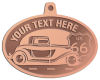 Ace Recognition Copper KeyTag, Medal, Pendant - with your text and logo - Car designs - US route 66 - vintage cars - classic cars - truck - pickup - your text, route 66, route sixty six, route sixty-six, historic highway, historic road, mother road, transportation