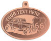 Ace Recognition Copper KeyTag, Medal, Pendant - with your text and logo - Car designs - US route 66 - vintage cars - classic cars - roadster - your text, route 66, route sixty six, route sixty-six, historic highway, historic road, mother road, transportation, transportation