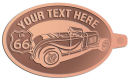 Ace Recognition Copper KeyTag - with your text and logo - Car designs - US route 66 - vintage cars - classic cars - convertible - sports car - your text, route 66, route sixty six, route sixty-six, historic highway, historic road, mother road
