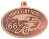 Ace Recognition Copper KeyTag, Medal, Pendant - with your text and logo - Car designs - US route 66 - vintage cars - classic cars - coupe - sports car - your text, route 66, route sixty six, route sixty-six, historic highway, historic road, mother road