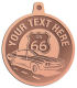 Ace Recognition Copper KeyTag, Medal, Pendant - with your text and logo - Car Designs - US route 66 - classic car - sports car - vintage car - your text, route 66, route sixty six, route sixty-six, historic highway, historic road, mother road, transportation